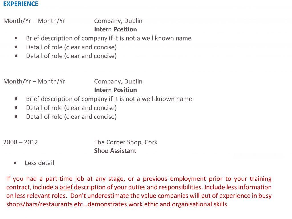 Graduate Accounting CV Image 2